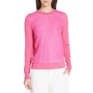 Tory Burch // Floral Cloque Merino Wool Sweater